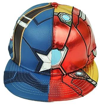 3368e4c1 Amazon.com: New Era 59Fifty Armor Iron Man Captain America Civil War Fitted  7 1/8 Hat Cap: Sports & Outdoors