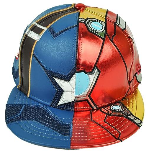 New Era 59Fifty Character Split Armor Captain America Civil War Fitted Cap  (7 1  54839f643bdc