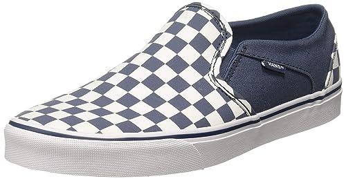 18166dc2dc Vans Women s Asher (Checkerboard) Vintage Blue Sneakers-2.5 UK India (34.5