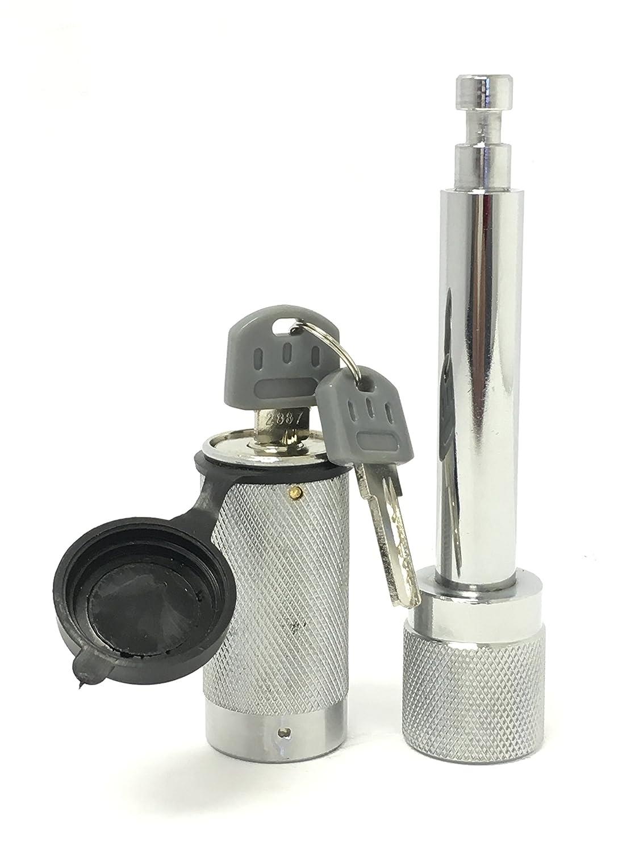 MaxxHaul 70050 Heavy Duty 5//8 Hitch Locking Receiver Pin With 2 Keys