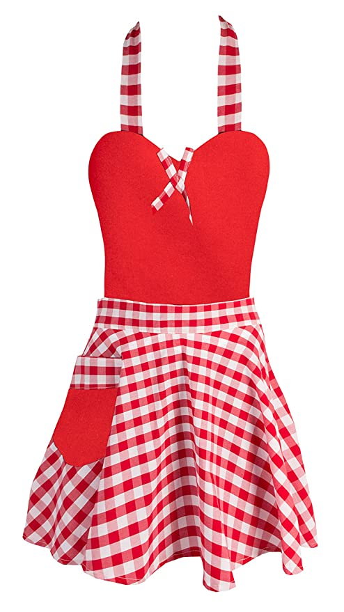Grembiuli Da Cucina Particolari.Da Donna In Stile Retro Vintage Volant Grembiule Da Cucina Cucinare Pulizia Cameriera Costume Style 14