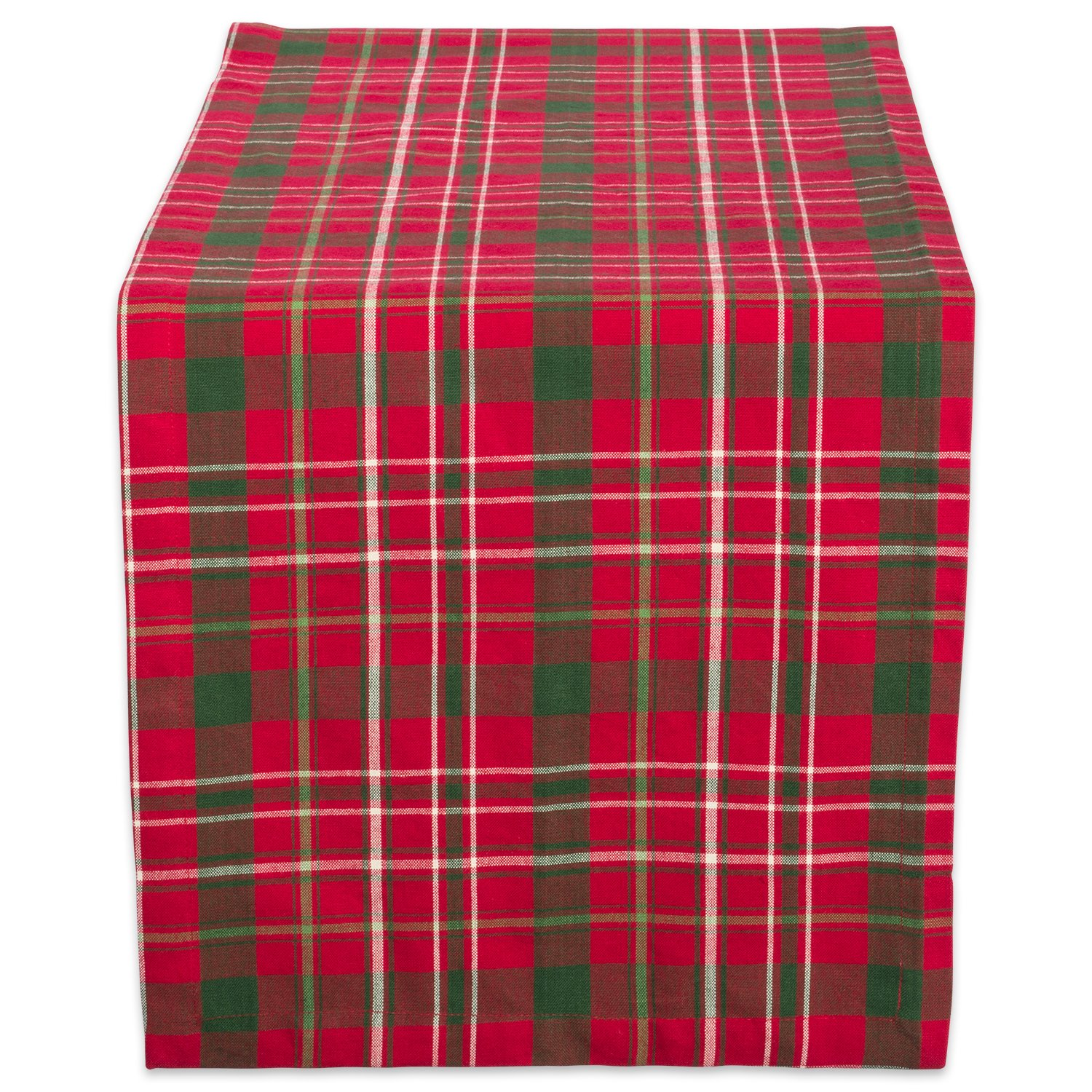 "DII Tartan Holy Plaid 100% Cotton Table Runner, Machine Washable for Holiday Gatherings, Dinner Parties, & Christmas (14x72"")"