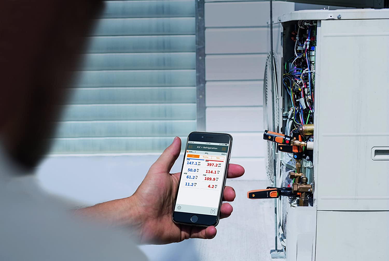 thermom/ètre /à pince avec commande Smartphone Testo 115 i