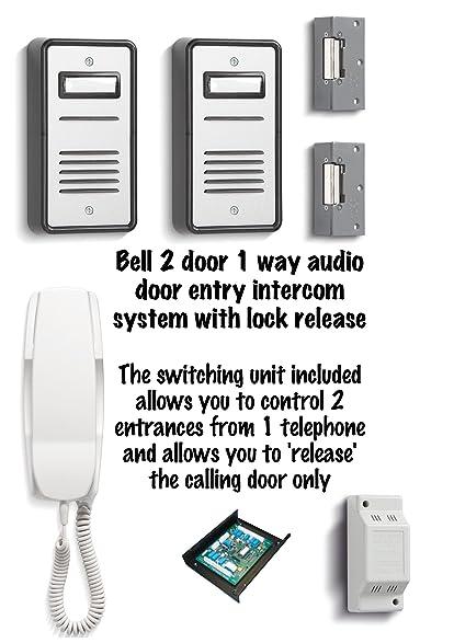 Amazon Bell 2 Door 1 Way Audio Door Entry Intercom System With
