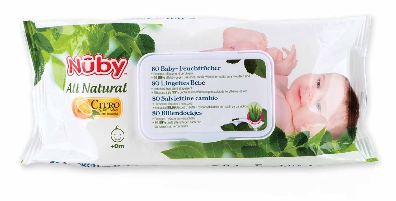 Nuby CG42080 80pieza(s) toallita húmeda para bebé - toallitas húmedas para bebé: Amazon.es: Bebé