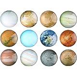 12 Planetary Fridge Magnets - Refrigerator Magnets, Office Magnets, Calendar Magnet, Whiteboard Magnets,Perfect Decorative Magnet Set