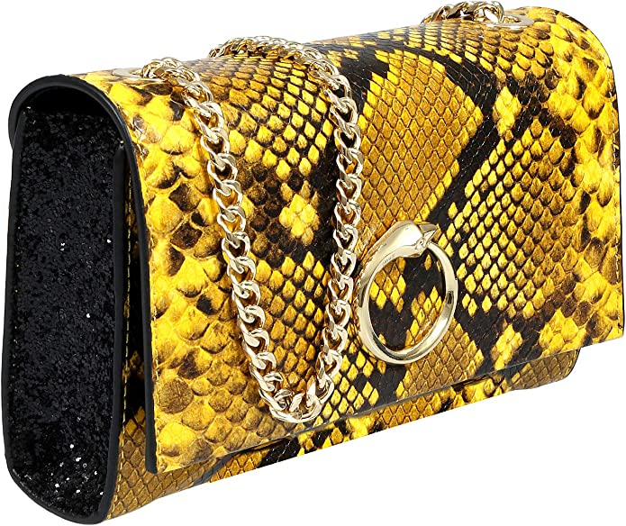 Roberto Cavalli HXLPE1 001 Grey Shoulder Bag for Womens