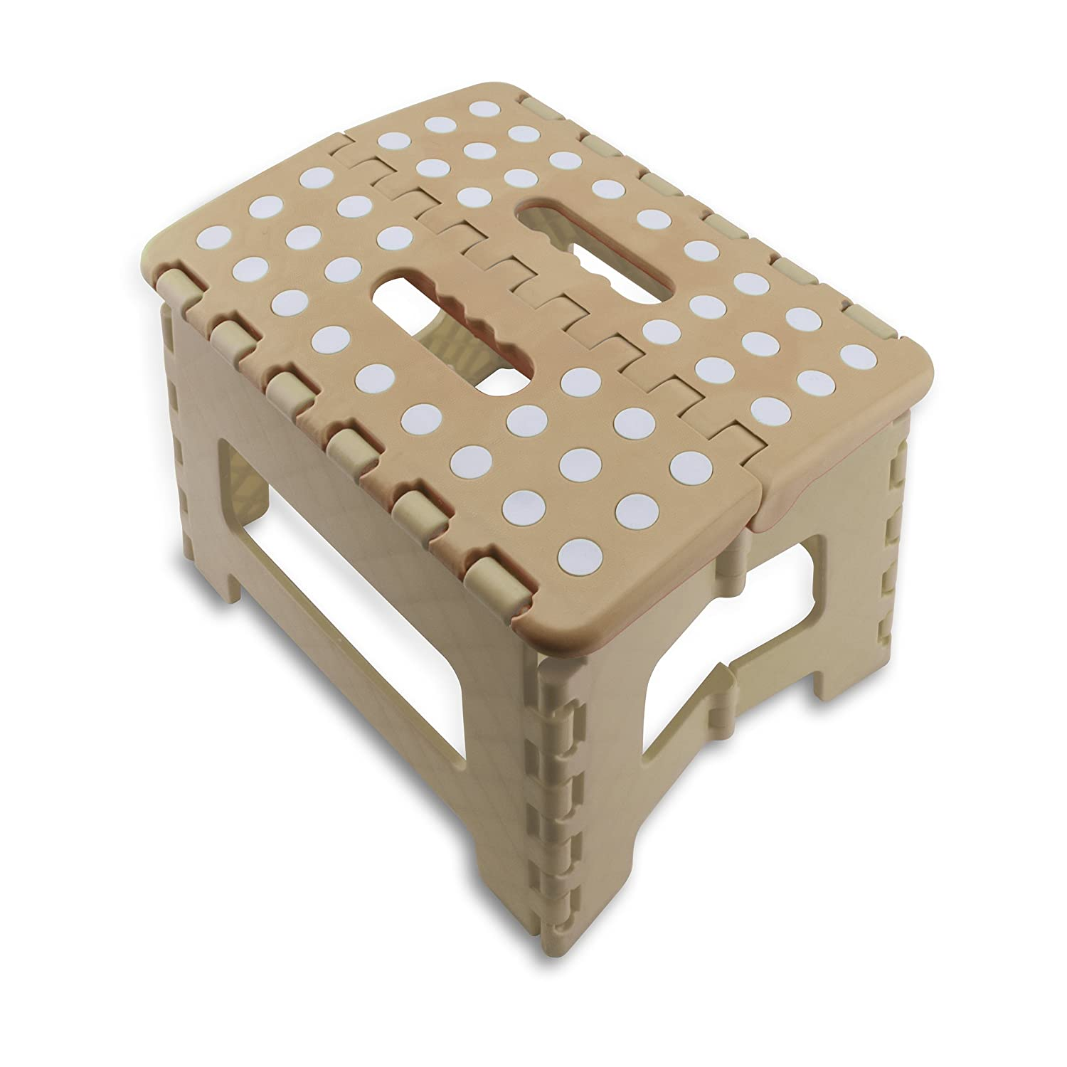 ecHome One Step Folding Plastic Stool Non-Slip Collapsible Portable w/Handle for Kids Adult