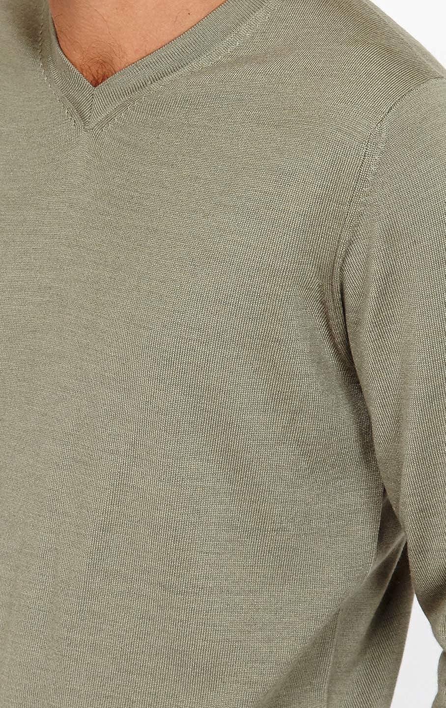 Jack Stuart Mezcla de Lana de Merino Jersey con Cuello de Pico para Hombre