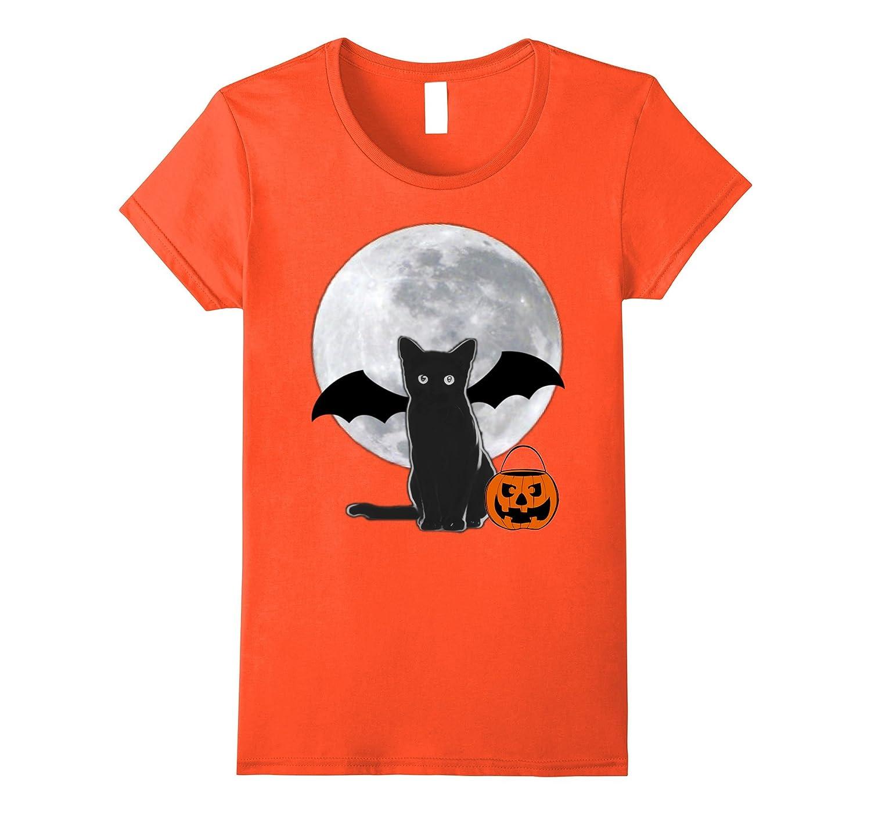 Halloween Batcat Black Bat Cat Shirt-Veotee