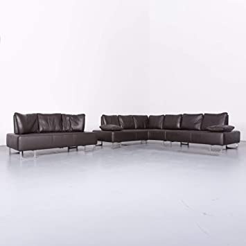 De Sede Ds 165 Designer Leder Sofa Garnitur Braun Echtleder Ecksofa