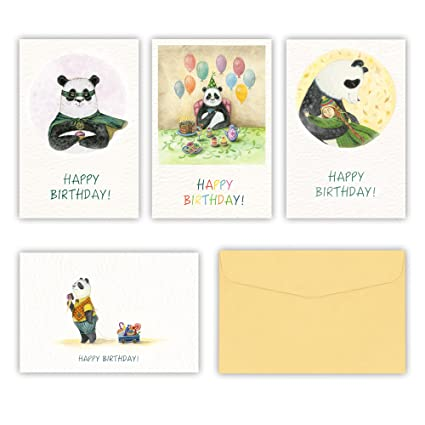 Amazon Birthday Cards With Panda Set Of 16 Happy Birthday