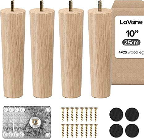 4 x Hairpin Coffee 40cm Table Legs 16Inch Height 3 Rod Metal Table and Furniture Legs Screws Included for DIY Project