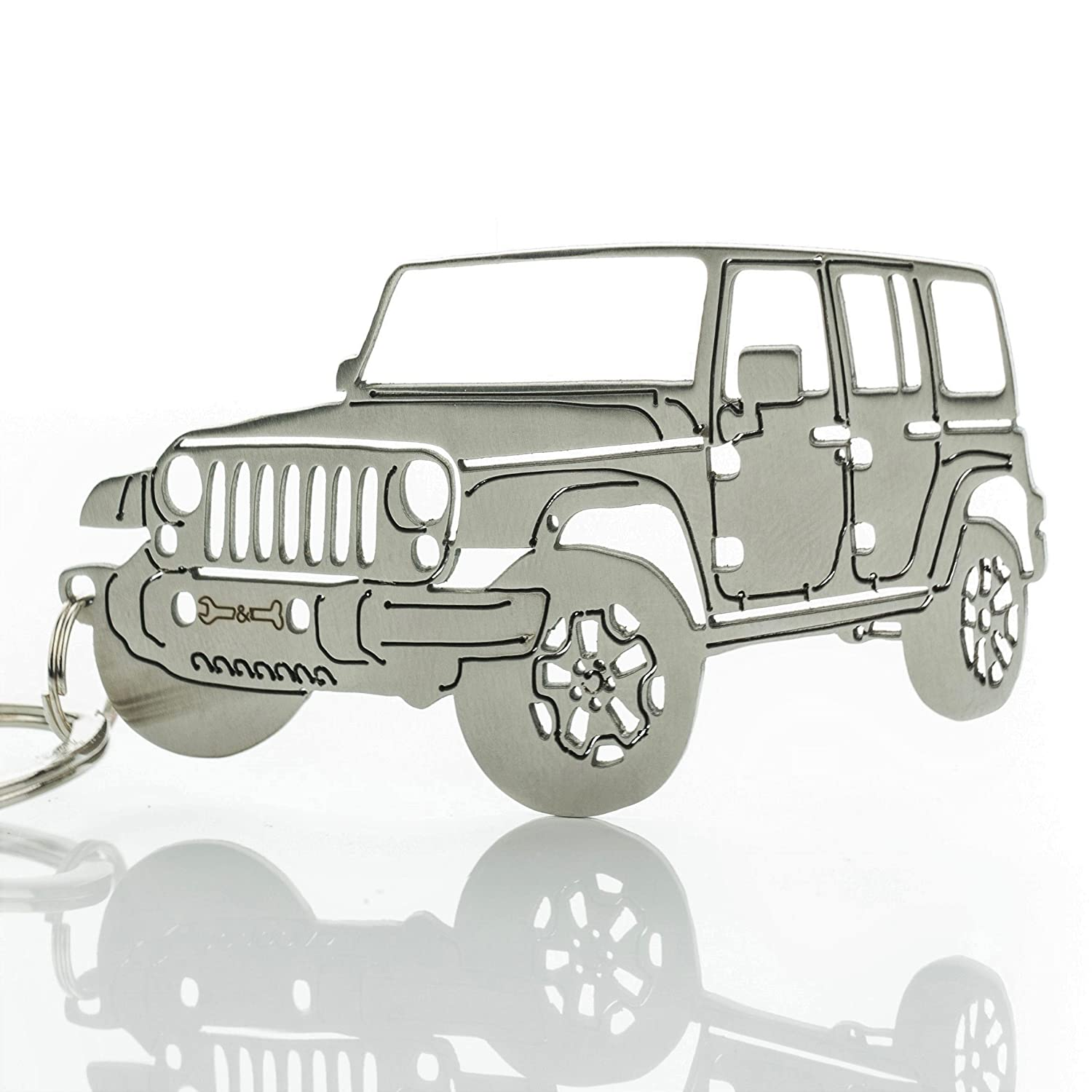 Amazon Wrenches & Bones Key Chain For Jeep Enthusiasts