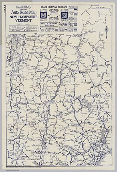 Vintage Map Vermont New Hampshire 1920s 4 90 Picclick