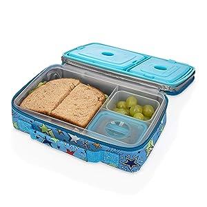 Nuby Insulated Bento Box Lunchbox, Boy