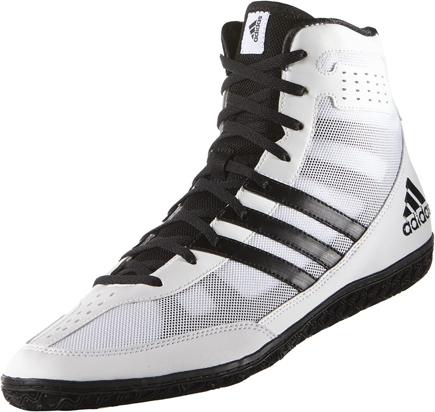 Black /& White Adidas Mat Wizard 3 Boxing /& Wrestling Boots