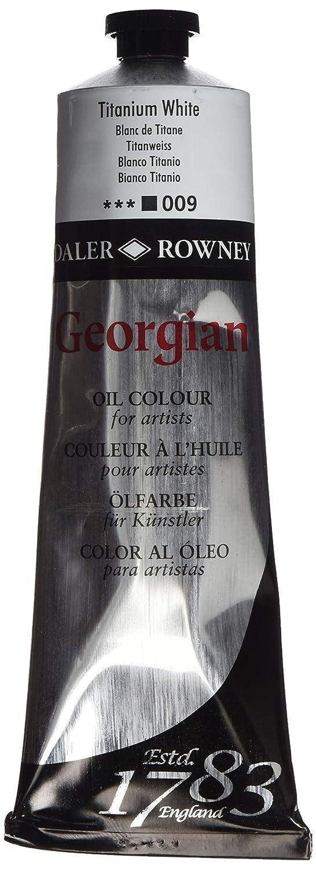 Daler - Rowney Georgian - Tubo de pintura con base de aceite (225 ml, brillante, duradero), color blanco Daler-Rowney GOC 111225009
