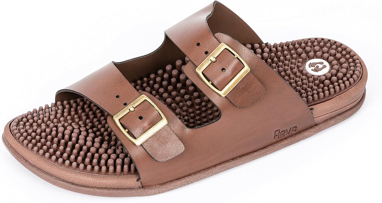 Revs Premium Acupressure & Reflexology Massage Sandals. Shock Absorbing, Cushion Comfort & Arch Support.