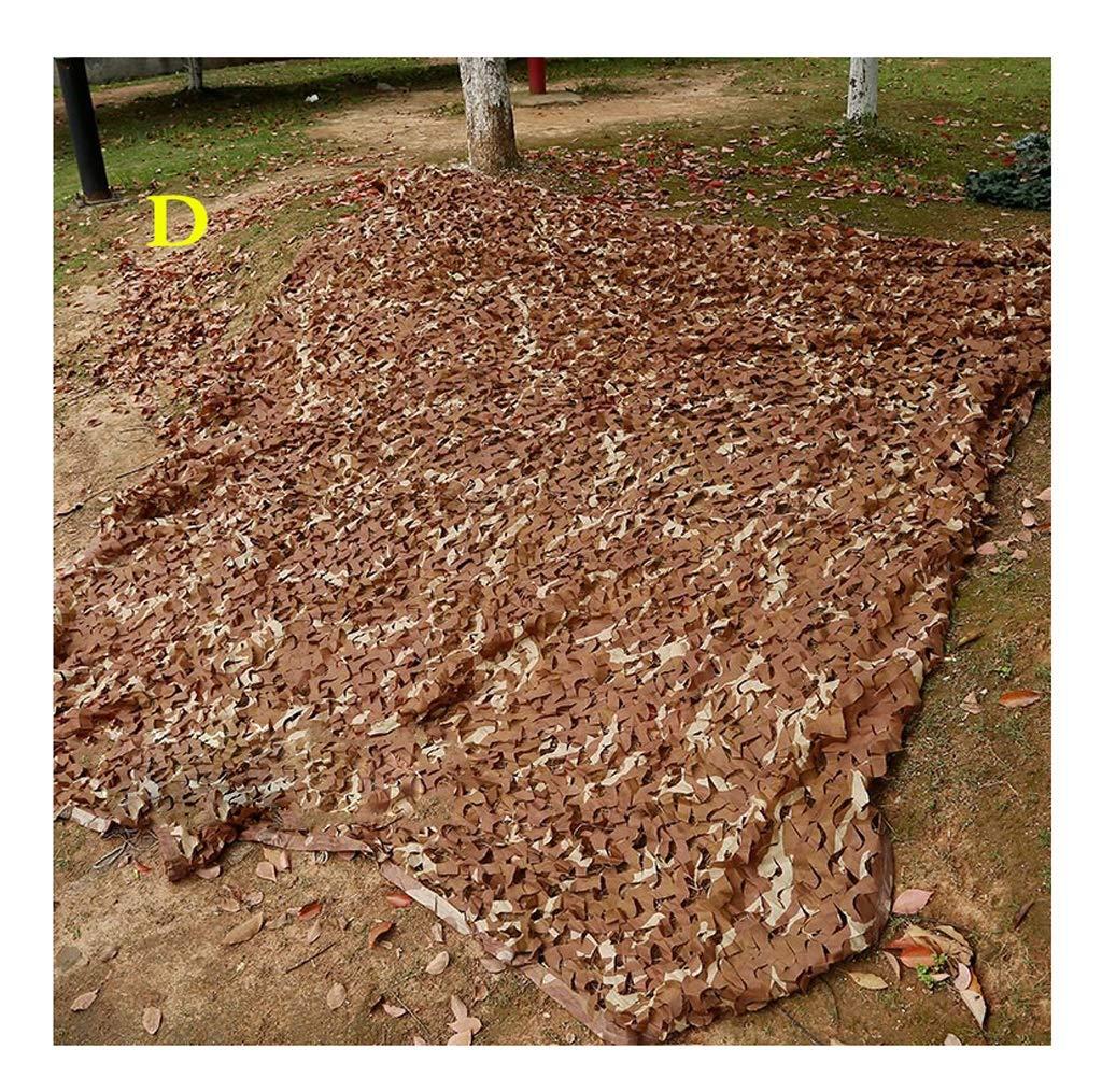 屋外狩猟に適したカモフラージュ迷彩ネット/キャンプシューティング、5色オプション (色 : D, サイズ さいず : 4 * 6m) 4*6m D B07HQT7KTX