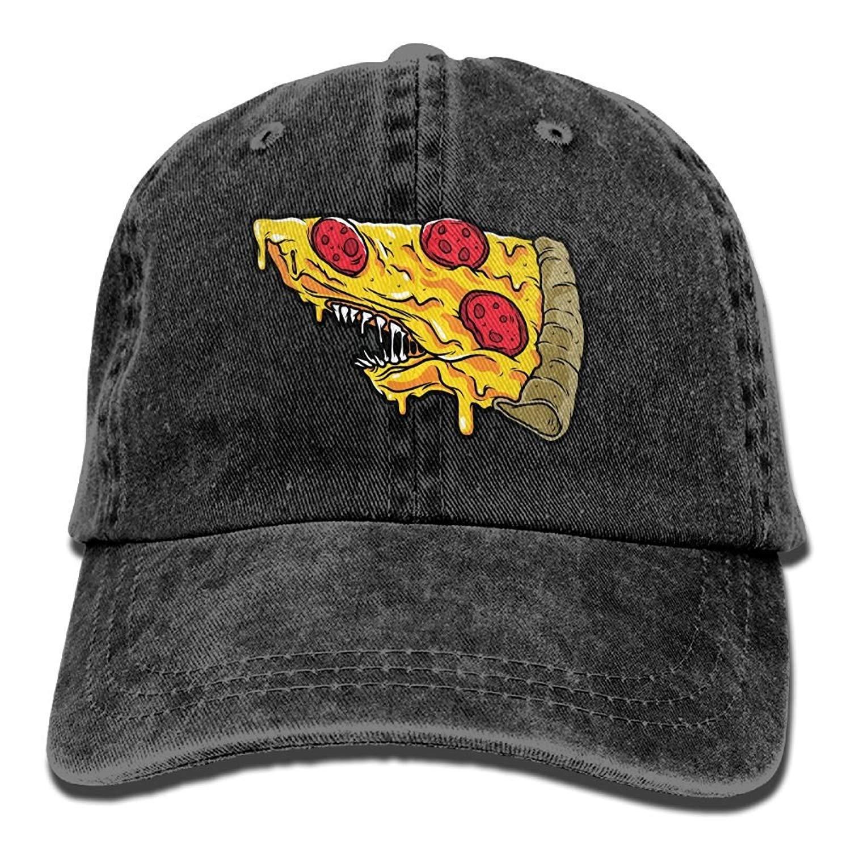 JTRVW Cowboy Hats Funny Sea Pizza Shark Adult Denim Dad Solid Baseball Cap Hat Black