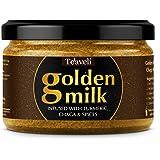 Premium Golden Milk Powder- New Delicious & Advanced Formula w/Chaga Mushrooms, Turmeric, Pepper, Ceylon Cinnamon & Garden Fresh Spices –Vegan Superfood Blend & Daily Tonic – 6oz (170g)