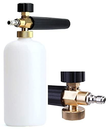 Foam Cannon Soap >> Tikteck Car Wash Gun Pressure Washer Cannon With 1l Soap Bottle Foam Lance Ideal For Pressure Snow Foam Wash Foam Cannon Foam Blaster With 1 4 Quick