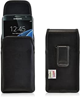 product image for Turtleback Holster Made for Samsung Galaxy S7 Edge Black Vertical Belt Case Leather Pouch with Executive Belt Clip Made in USA