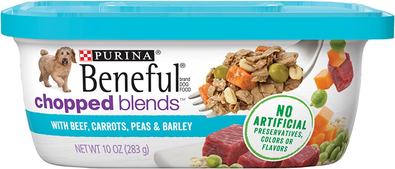 Purina Beneful Chopped Blends Adult Wet Dog Food – 8 10 oz. Tubs