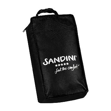 Bolsa de Transporte de fijaci/ón Gratuita SANDINI TravelFix Regular Size Almohada de Viaje Premium con Cierre//Almohada Cervical con funci/ón de Soporte ergon/ómico