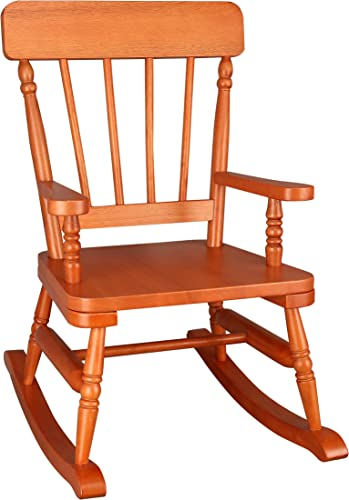 Wildkin Kids Rocking Chair for Boys and Girls, Perfect for Sitting or Lounging in Playrooms or Bedrooms, Classic Design Wooden Rocker Measures 23 x 17.5 x 29 Inches, Assembly Required Maple Finish