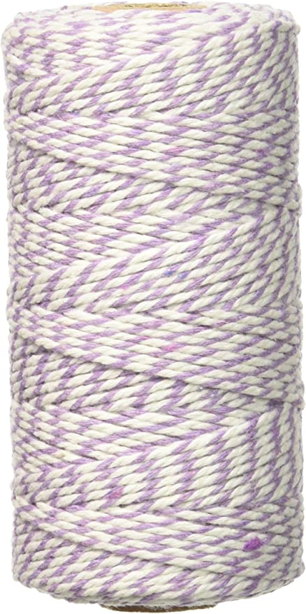 PINK 2mm 2 PLY STRING CORD TWO TONE BEAUTIFUL BAKERS TWINE SLATE GREY