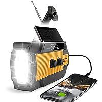 $37 » 【2021 Newest】RunningSnail Emergency Crank Radio,6000mAh-Solar Hand Crank Portable AM…