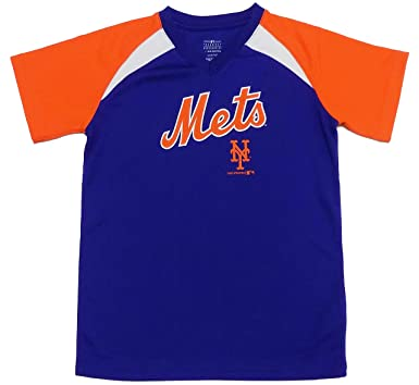save off d60e8 f141a Amazon.com: Outerstuff New York Mets Blue Wordmark Youth V ...