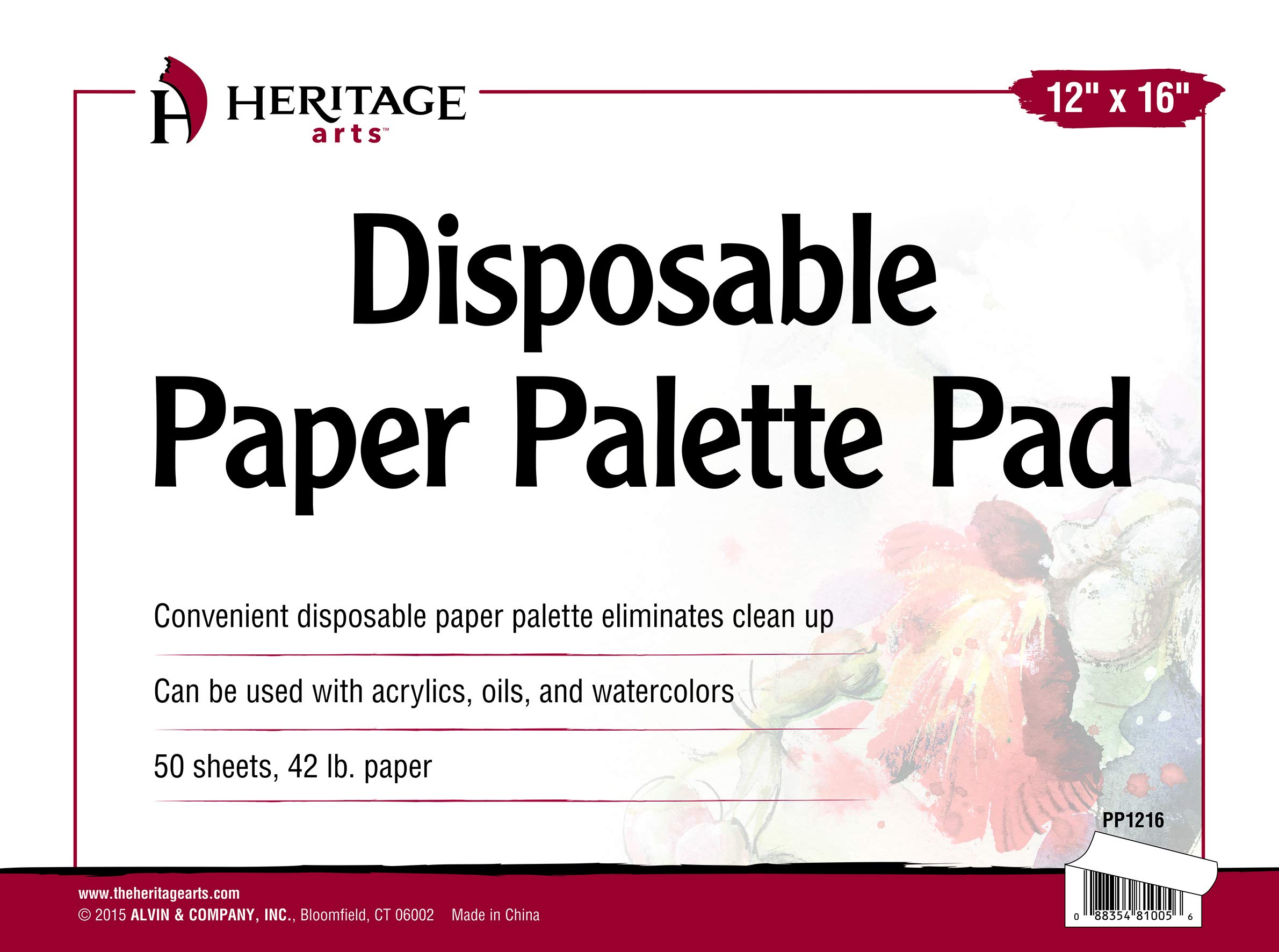 Heritage Arts PP1216 Disposable Paper Palette Pad 12 inches x 16 inches by Alvin and Co.