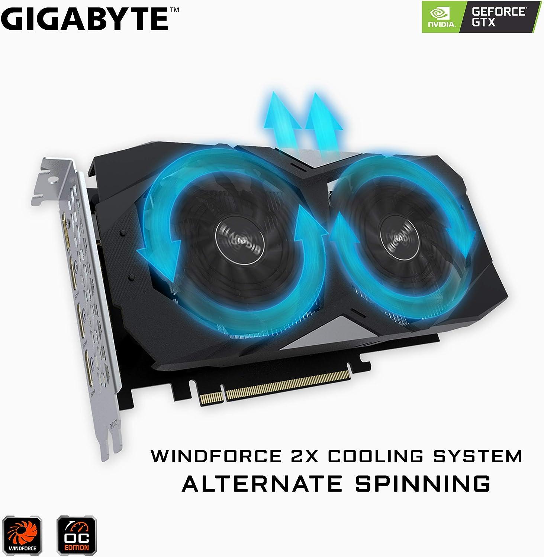 Gigabyte GV-N1650OC-4GD - Tarjeta gráfica (GeForce GTX 1650, 4 GB ...