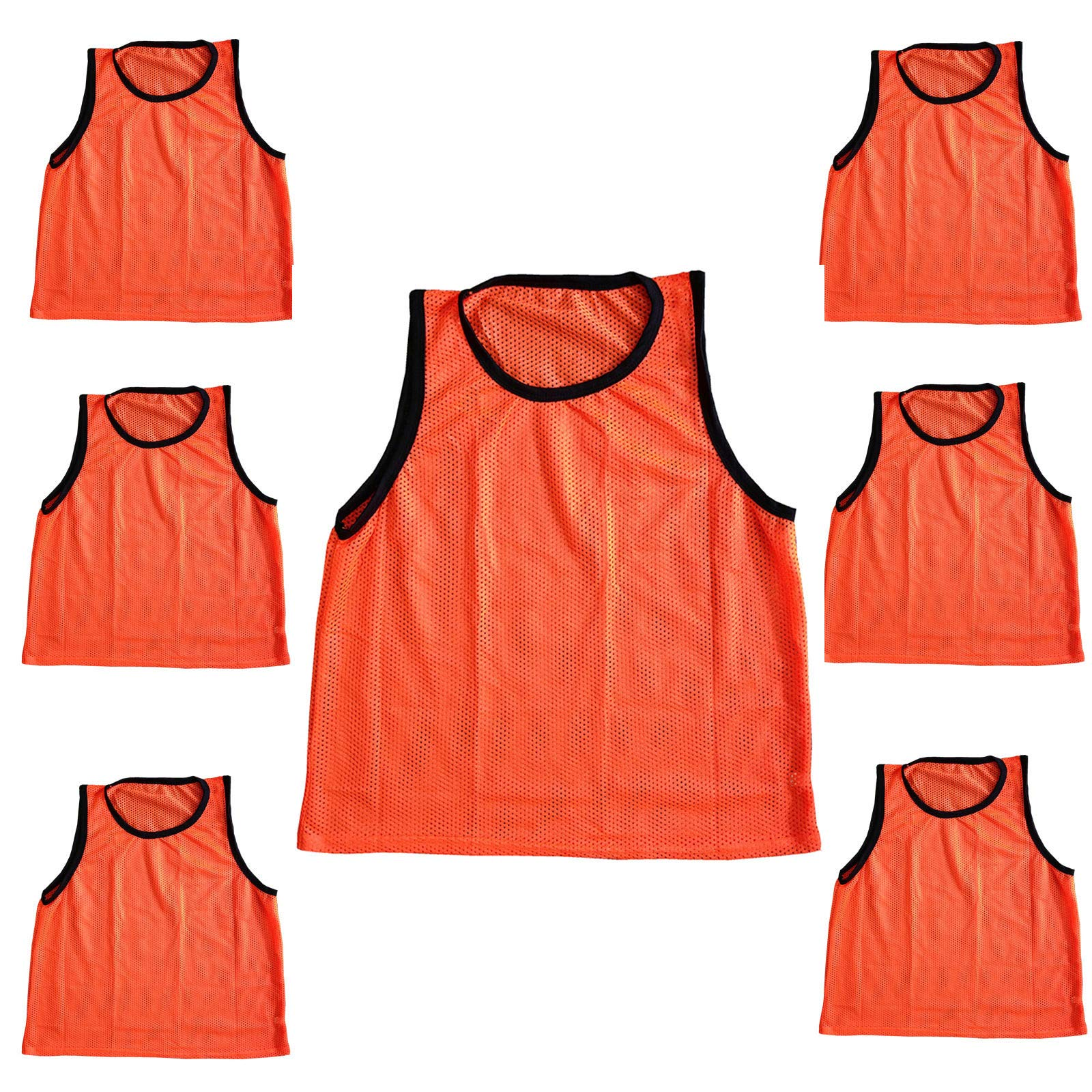 Bright Sun 6 pcs Scrimmage Vests Pinnies Soccer Youth Orange #BDMN by Bright Sun