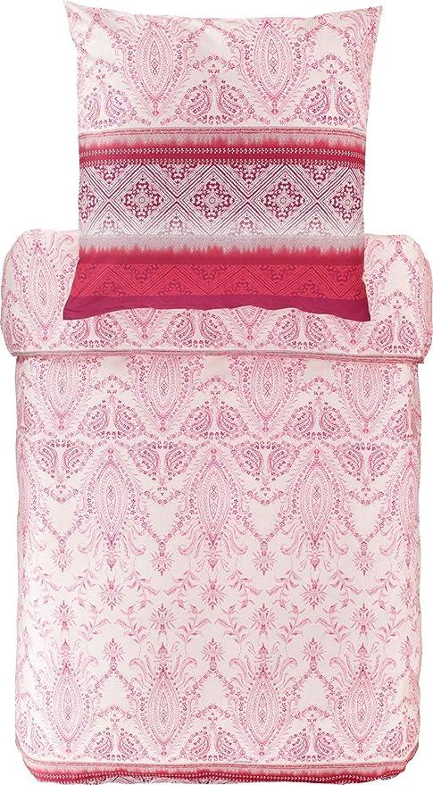 Bassetti - Juego de sábanas, algodón, Rojo, 135 x 200 cm: Amazon ...
