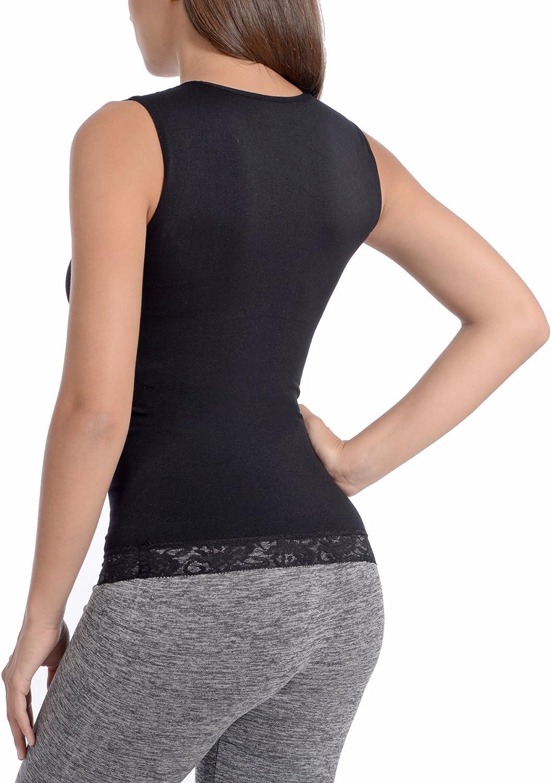 Zhhlinyuan Bonne qualit/é V Neck Womens Thermal Underwear Plus Velvet Stretch Body Sculpting Thickening Soft Vest Tops