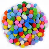 AsianHobbyCrafts Multi Color Pom Pom Balls w/ Glitter: Size - 2.5 cm: 100pcs Approx.. (Set B)