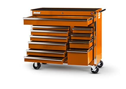 International VRB 4211OR 42 Inch 11 Drawer Orange Tool Cabinet With Heavy  Duty Ball