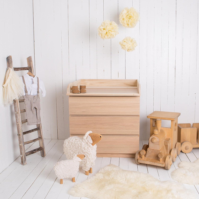 Puckdaddy Naturholz Wickelaufsatz Wickeltischaufsatz Fur Ikea Malm