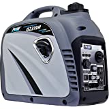 Pulsar G2319N 2,300W Portable Gas-Powered Inverter Generator with USB Outlet & Parallel Capability, CARB Compliant, Gray