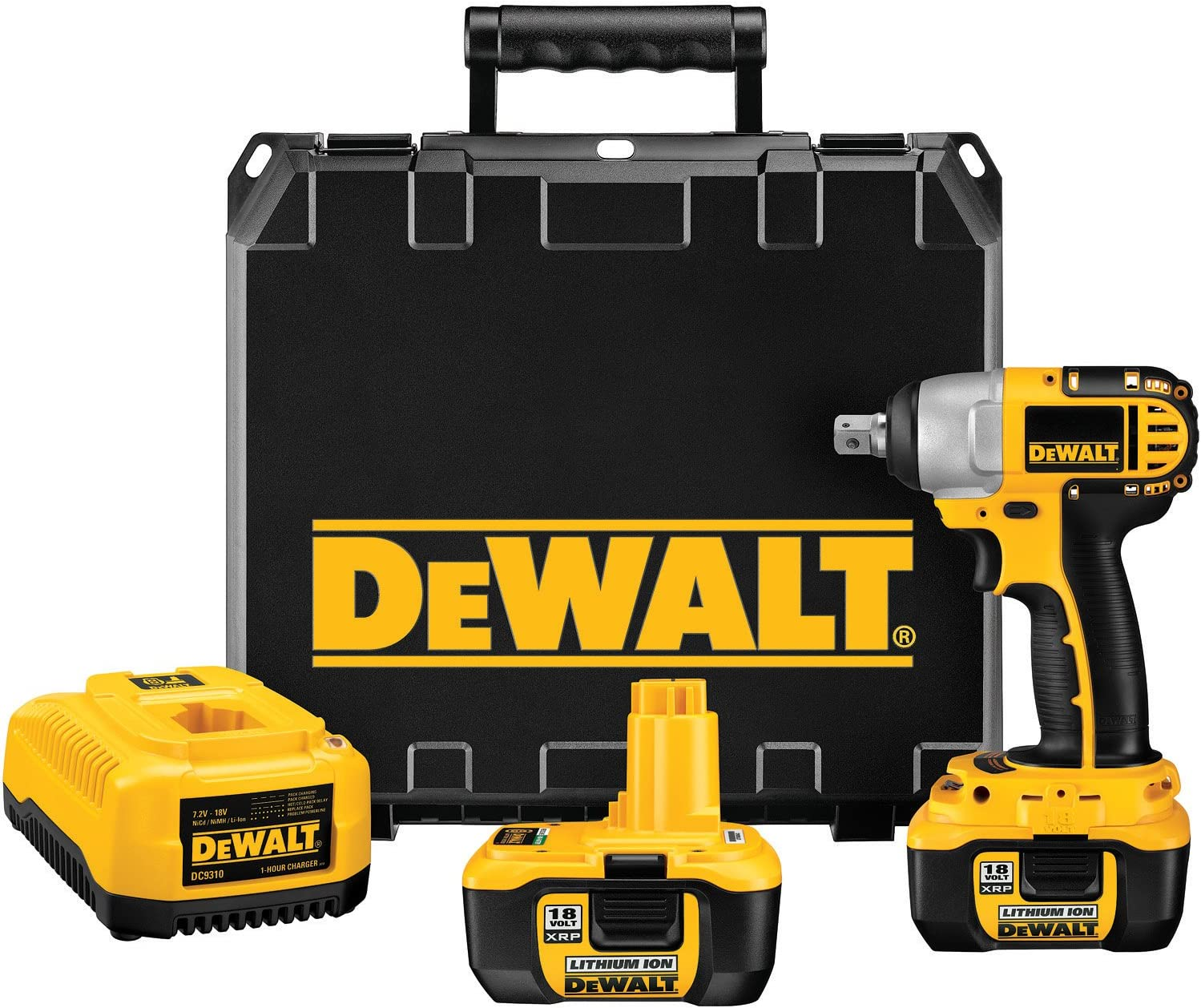 DEWALT DC822KL 18-Volt 1 2-inch Lithium Ion Cordless Impact Wrench with NANO Technology