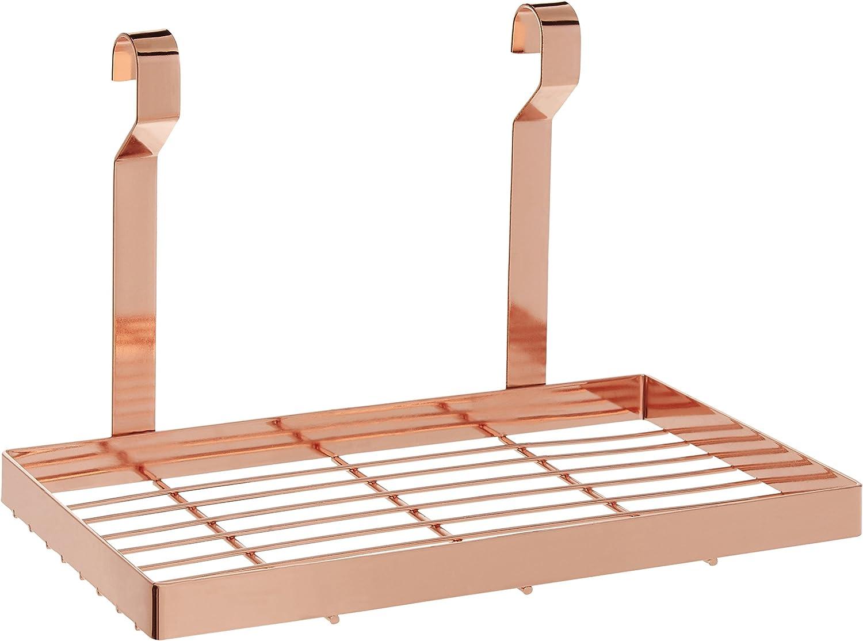 Premier Housewares Sorello - Estante Colgante para Colgar (Hierro, Oro Rosa, 18 x 30 x 19 cm)