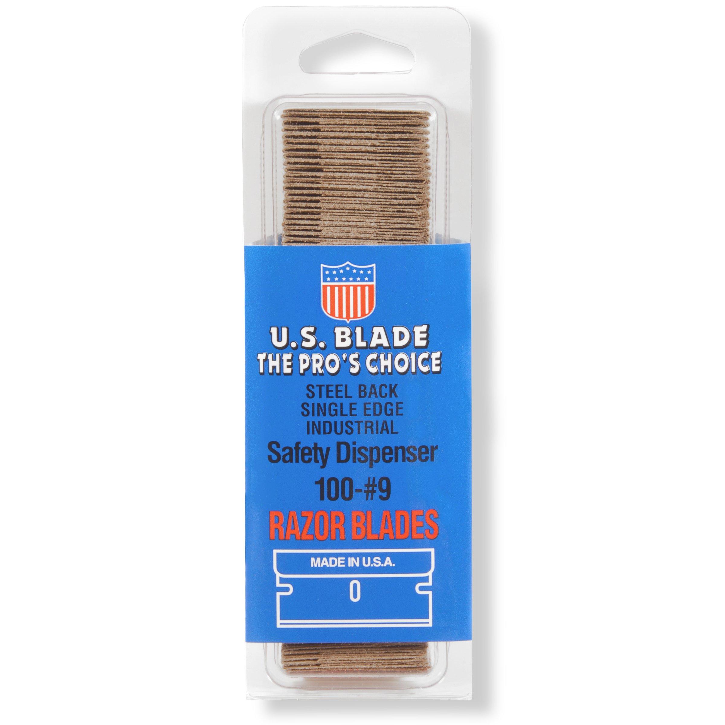 U.S. Blade U-111-41-3 Single Edge #9 Steel Back Clam Shell 100 Pak Set of 3