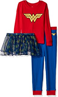 Wonder Woman Girls Toddler Tutu Pajama ...