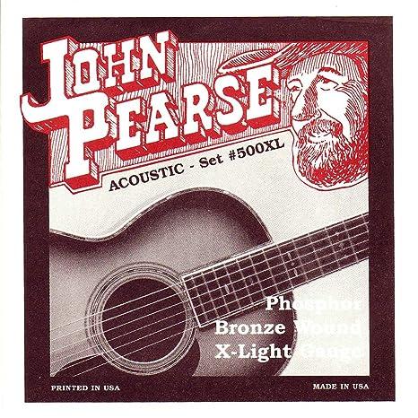 John Pearse P500XL - Juego de cuerdas para guitarra de fósforo ...
