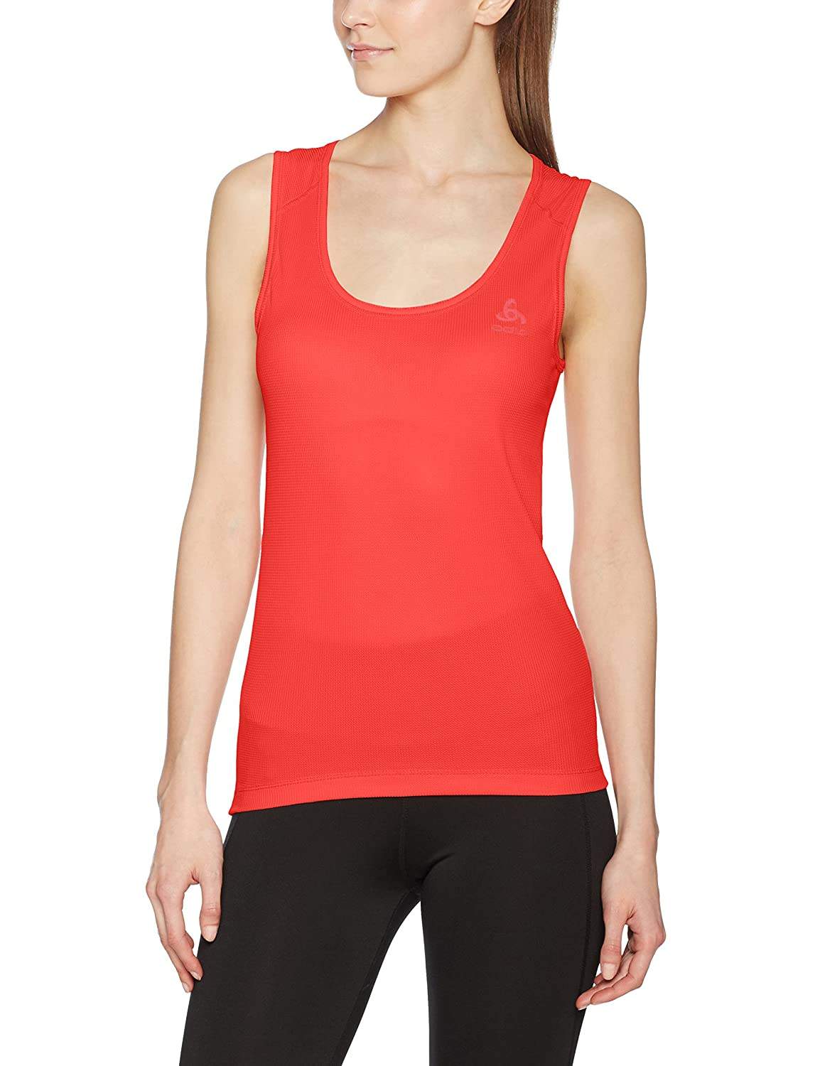Odlo Singlet Crew Neck Cubic Unterhemd, Mujer, 191131, Coral, Extra-Large