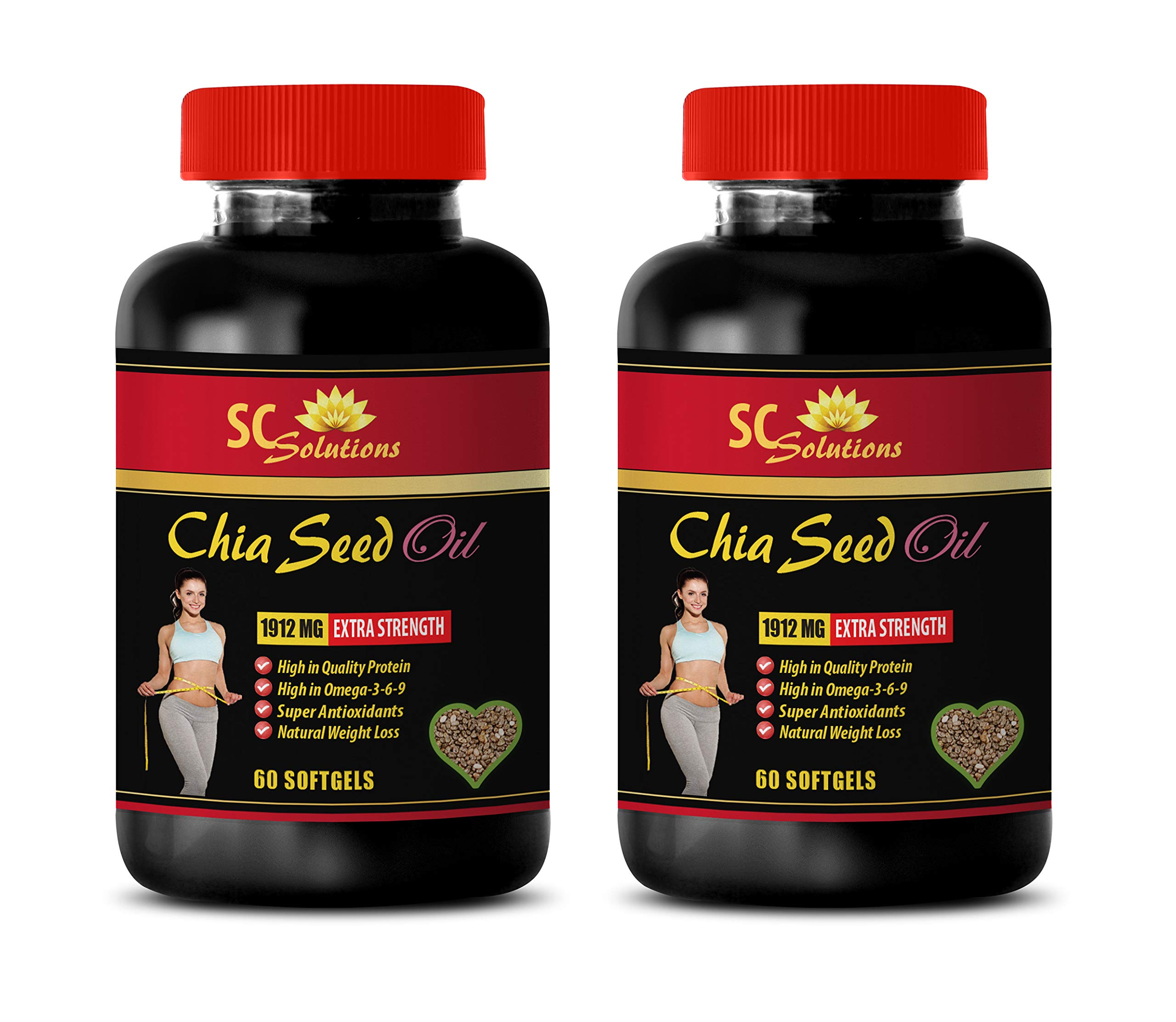 Weight Loss Pills for Women - CHIA Seed Oil - Chia Seed Natural - 2 Bottles 120 Softgels